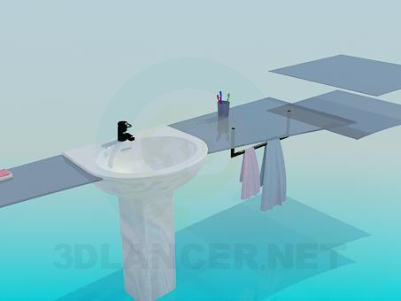 3d model Set in the bathroom - preview