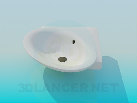 3d model Corner washbasin - preview