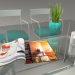 3d model Painted iron and glass dining table by hudviak - preview