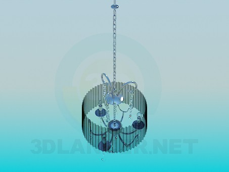 3d modeling Chandelier with corrugated Lampshade model free download