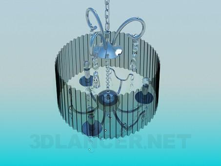 modelo 3D Lámpara con pantalla acanalada - escuchar