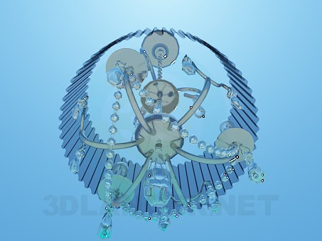 3d model Chandelier with corrugated Lampshade - preview