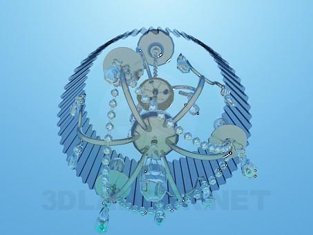 3d модель Люстра с гофрированным абажуром – превью