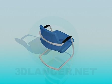 3d модель Стілець без задніх ніжок – превью