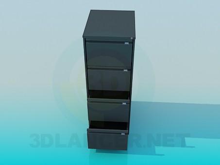 descarga gratuita de 3D modelado modelo Mesita de noche con cajones