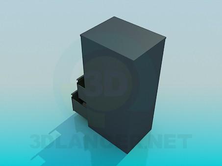 modelo 3D Mesita de noche con cajones - escuchar