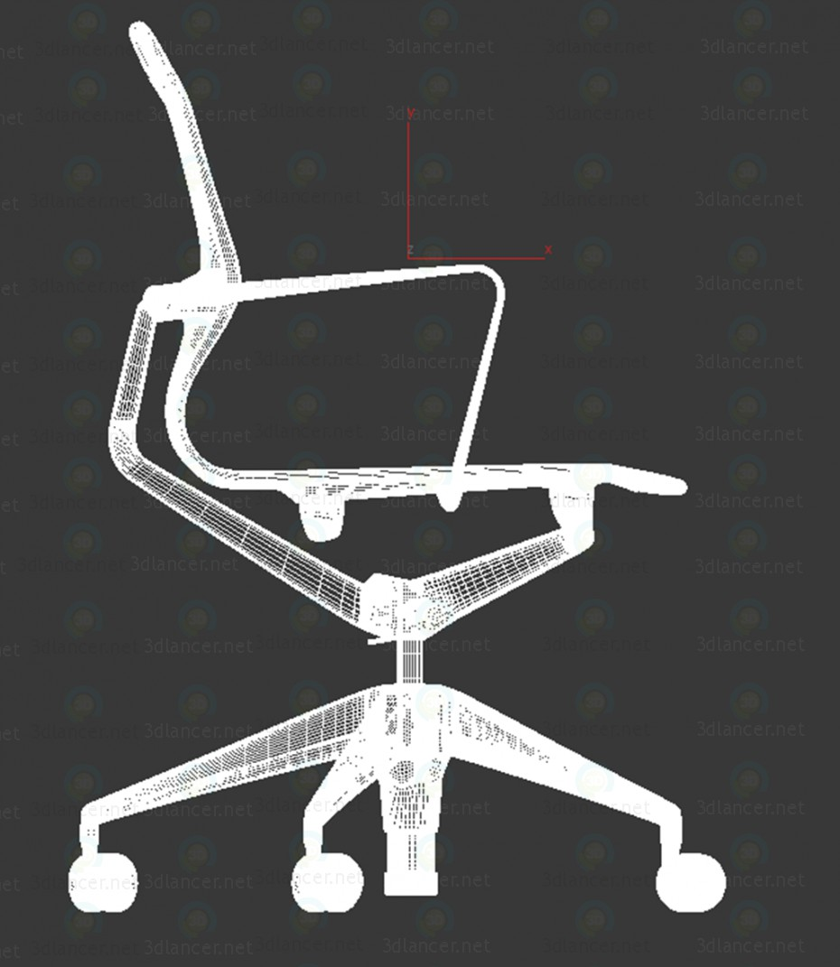 3d Chair (Physix Chaise Pivotante Vitra) model buy - render