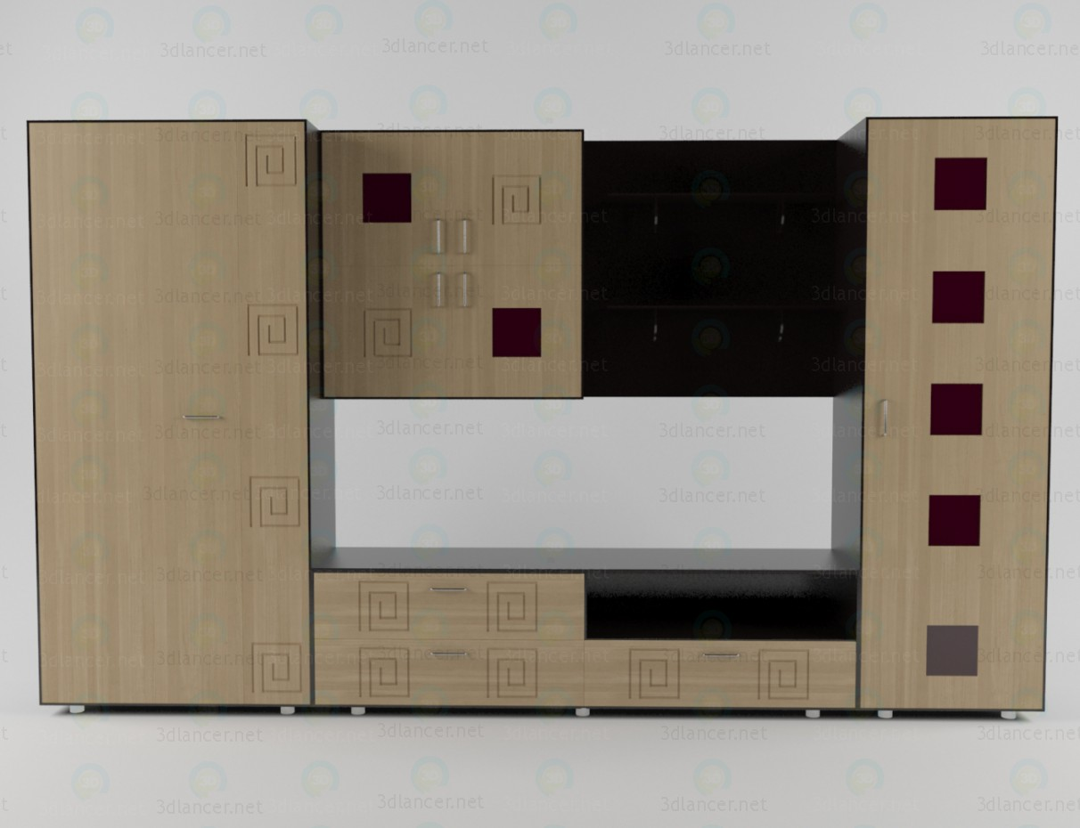 3d model The wall unit for the living room 2 - preview