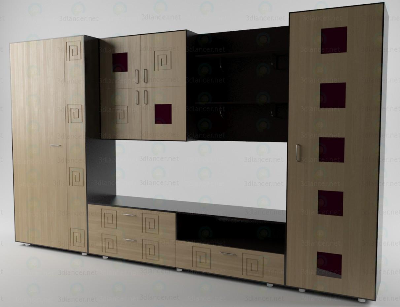 3d модель Стенка в гостиную 2 – превью