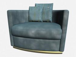 Кожаное кресло на металлических ножках в стиле арт деко Vivaldi