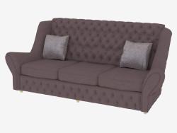 Canapé en cuir triple classique
