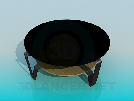 3d modeling Table with a double tabletop model free download