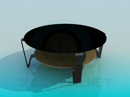 3d model Table with a double tabletop - preview