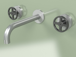 Wall-mounted set of 2 separate mixers with spout (20 10 V, AS-ON)