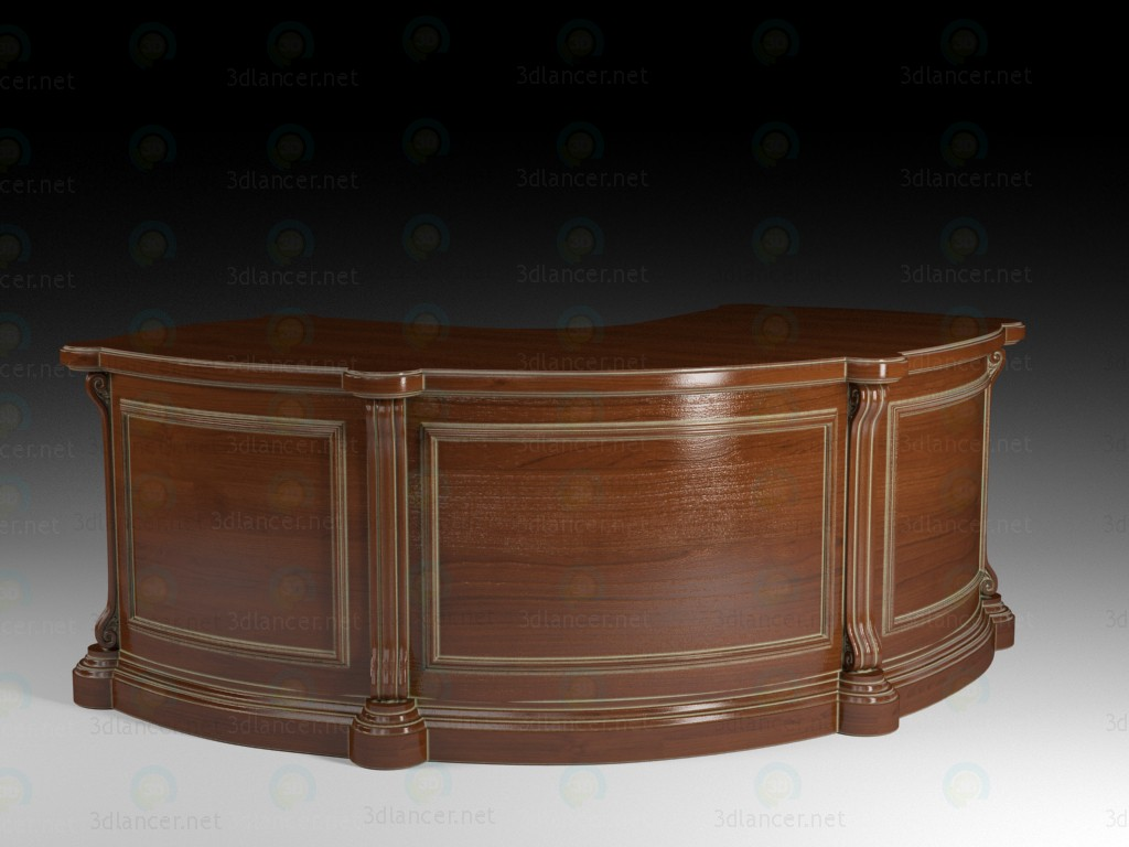 3d model Classic corner table - preview