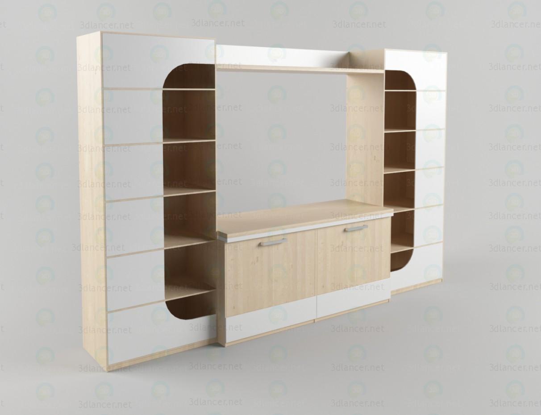descarga gratuita de 3D modelado modelo Unidad de pared en el salón 3
