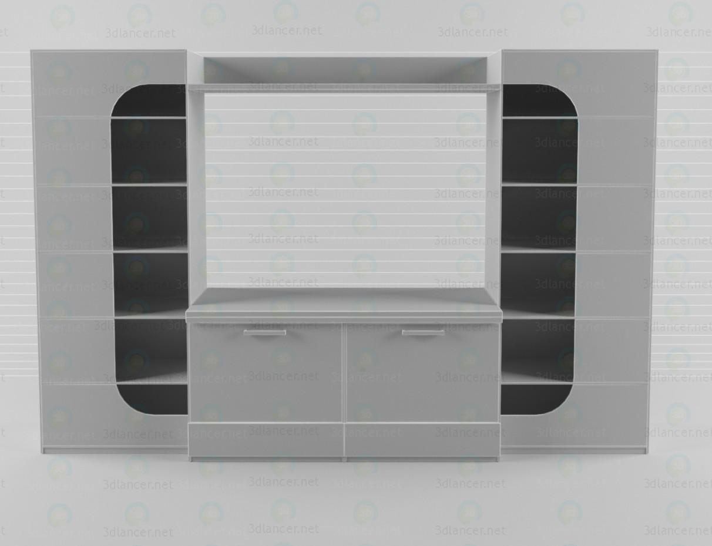 modelo 3D Unidad de pared en el salón 3 - escuchar