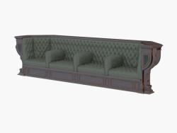 Canapé classique en cuir pour quatre personnes