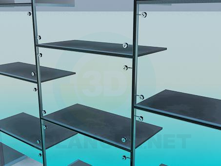 modelo 3D estanterías cantilever - escuchar