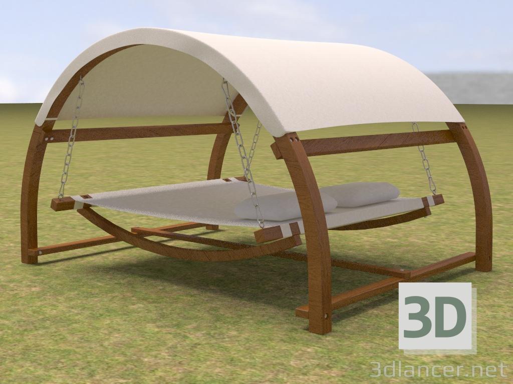 3D-Model Double Bed Outdoor