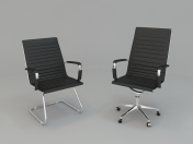 Armchair and chair for office