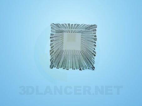 descarga gratuita de 3D modelado modelo Lámpara con rayas de reflector
