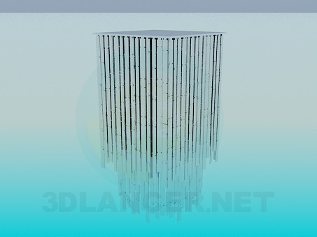 3d модель Светильник с зеркальными полосами – превью