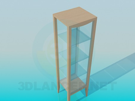 3d model Square frame-showcase - preview