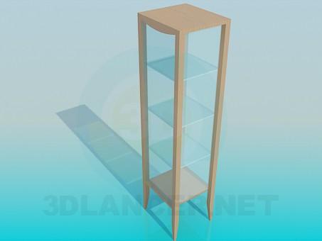 3d модель Квадратный стеллаж-витрина – превью
