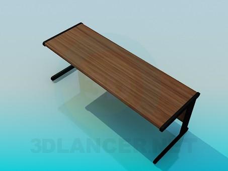 3d model Long desk - preview
