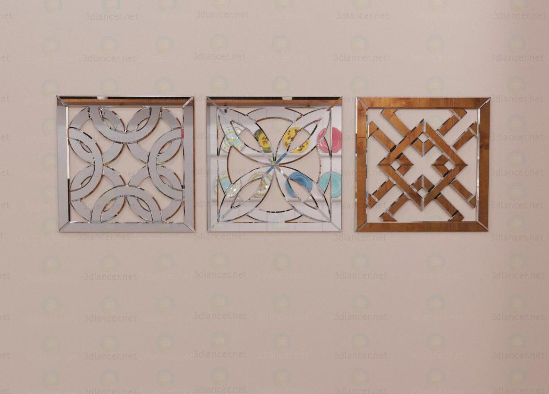 3d модель Декоративные зеркала – превью