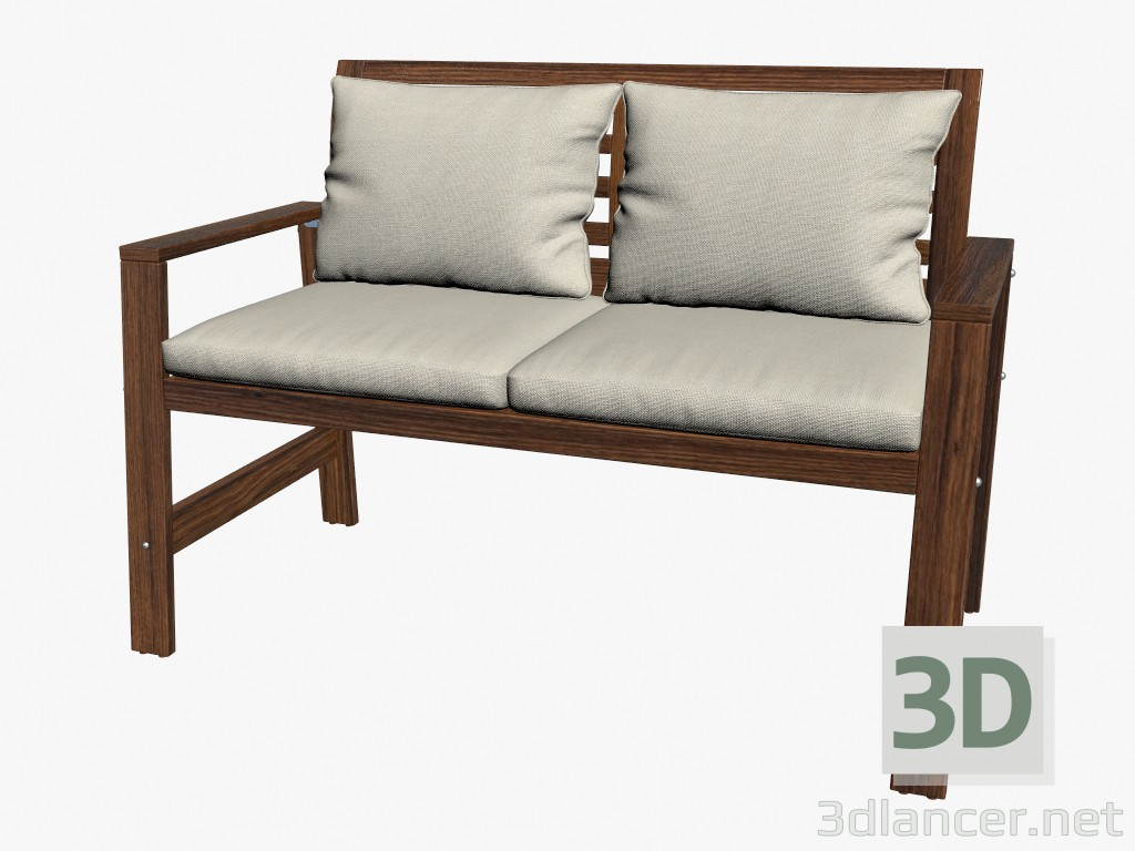 3d Model Bench With Cushions Manufacturer Ikea Id 16176