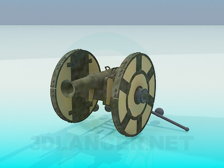 3d model High-angle gun - preview
