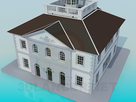 3d model Historic building - preview