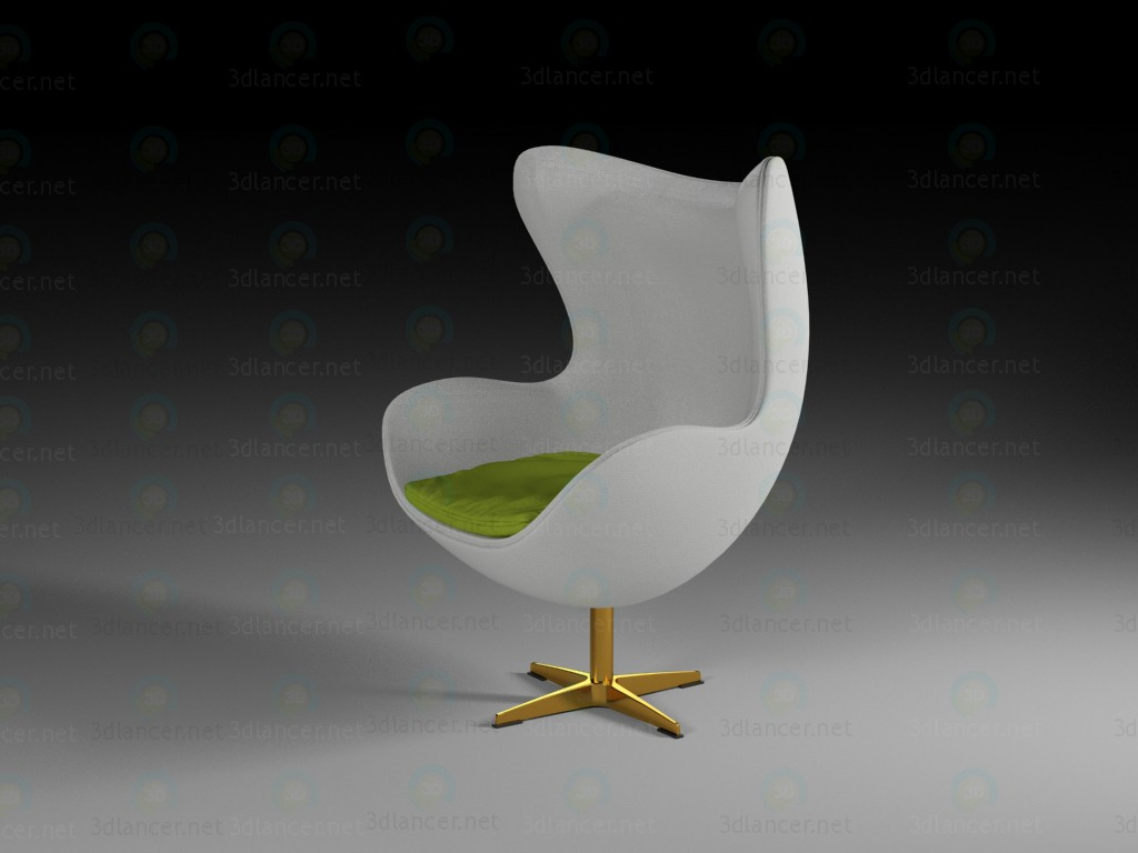 3d modeling Egg chair model free download