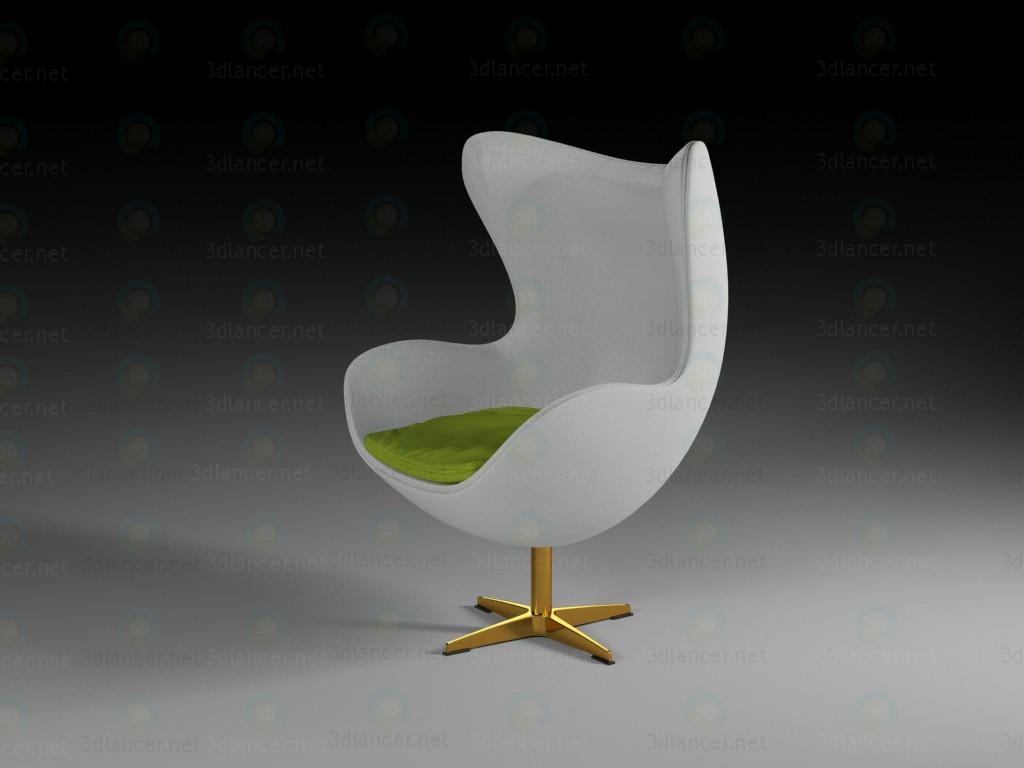 3d модель Кресло в виде яйца – превью