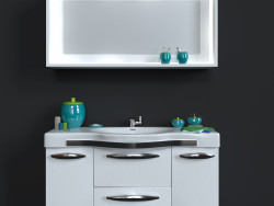 Mobile lavabo con specchio + set decorativo