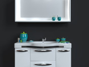 Washbasin with mirror + decorative set