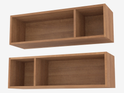Shelves mounted in modern style