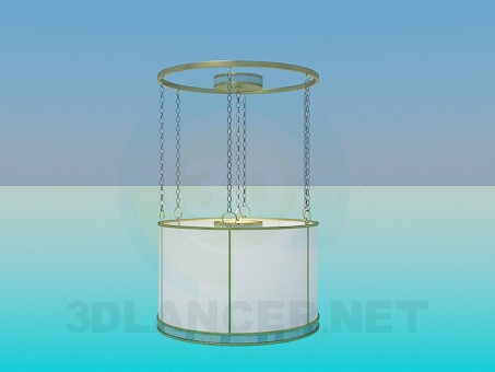3d modeling Luminaire with direct Lampshade on chains model free download