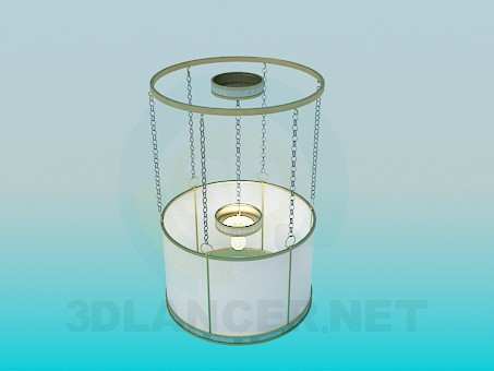 3d model Luminaire with direct Lampshade on chains - preview