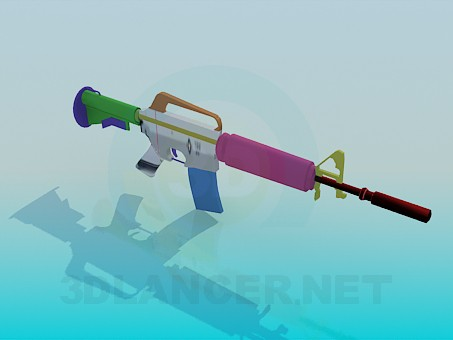 3d modeling Rifle M4A1-silencer model free download