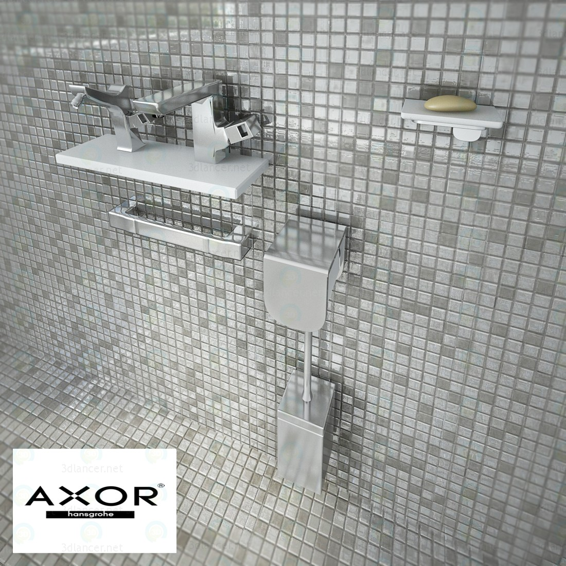 3d Axor urquiola collection model buy - render