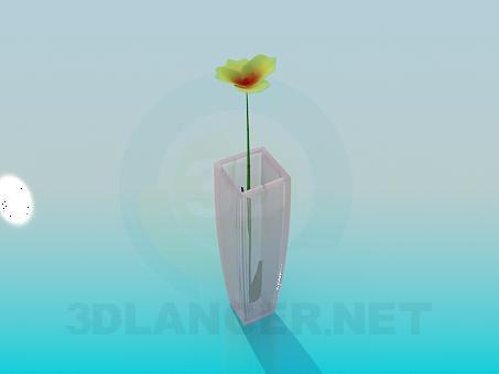 3d modeling Flower in vase model free download