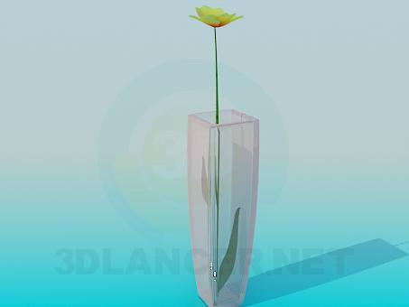modelo 3D Flores en florero - escuchar