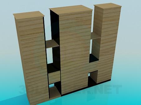 3d модель Стенка-стелаж – превью