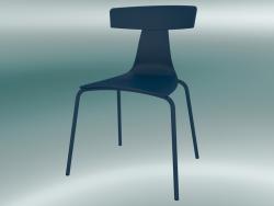 Sedia impilabile REMO sedia in plastica (1417-20, plastica verde blu, verde blu)