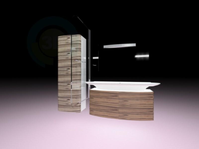 3d модель Набор мебели для ванной комнаты Jacob Delafon PRESQU'ILE – превью
