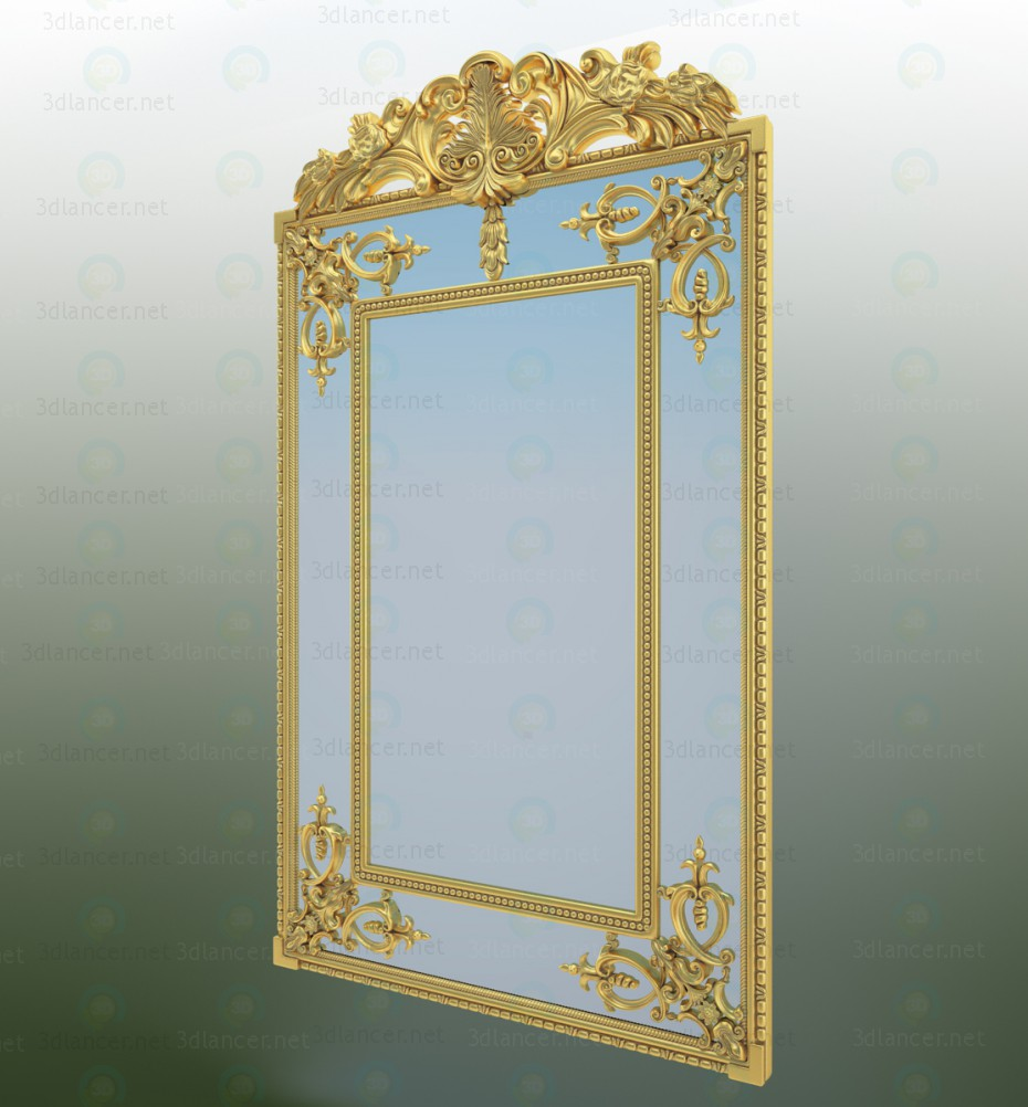 3d Mirror model buy - render
