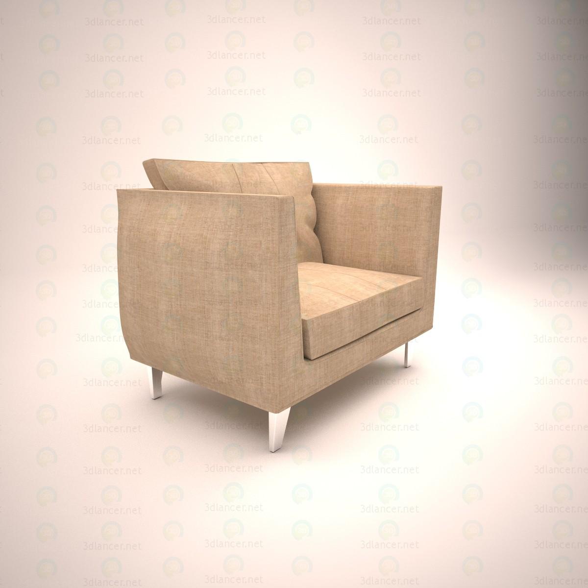 Silla para sala de estar 3D modelo Compro - render